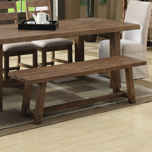 Dark Wood Kitchen Table With Bench