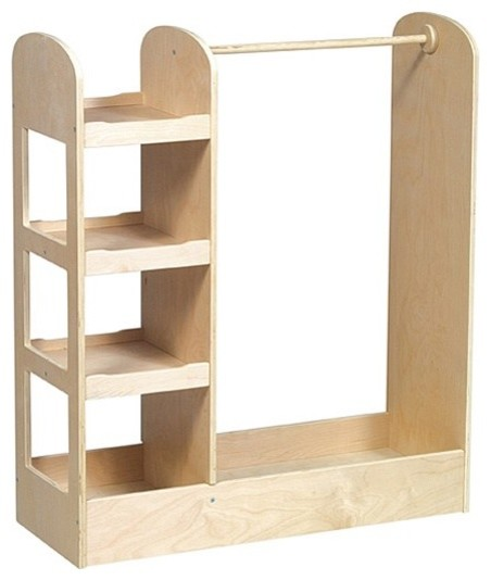 Kid's See and Store Dress-up Center, Natural Finish contemporary-kids-dressers-and-armoires