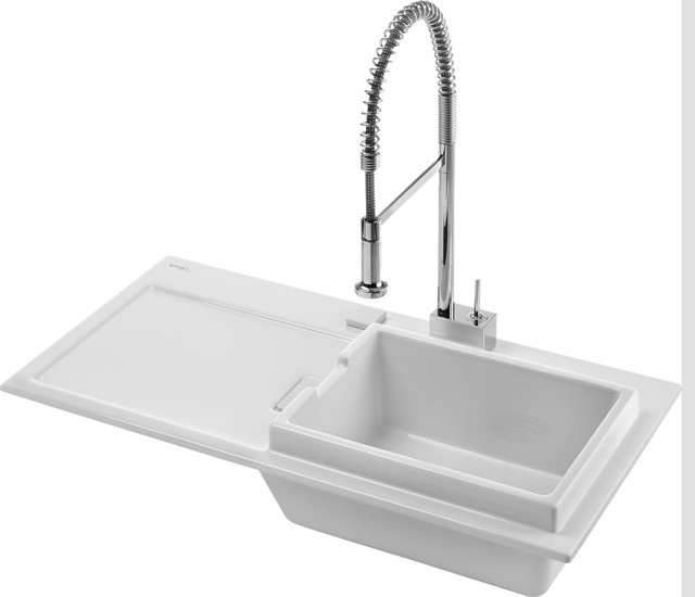 Duravit Starck K Ceramic Drop In Kitchen Sink - Modern - Kitchen Sinks ...