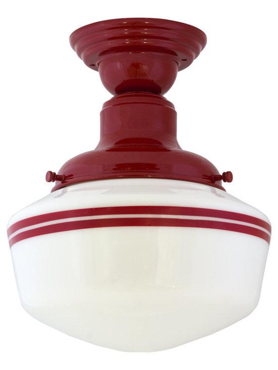 Barn Light Electric - Intermediate Schoolhouse Semi-Flush Mount Light -