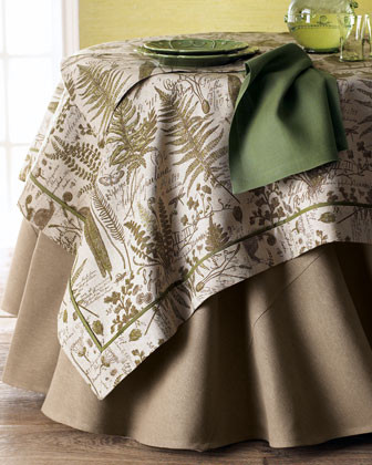 Legacy Home Botanical 54 Sq. Topper traditional table linens