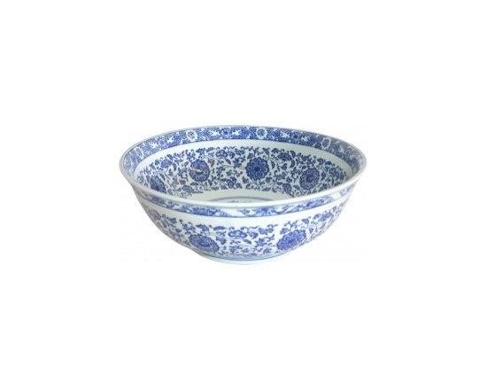 Asian Style Bathroom - Eden Bath EB_PS01 Ming Dynasty Decorative Porcelain Sink