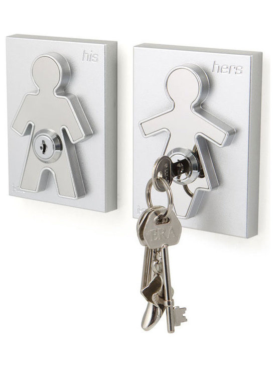 j-me design - His and Her Key Holders - The contemporary design of the His and Her Key Holders incorporates a male and a female form, which is raised up against its background forming an interesting design aspect and clearly identifying who's keys are whose!