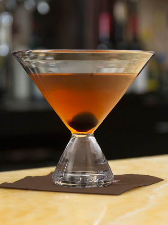 Simon Pearce Geo Stemless Martini Glass -