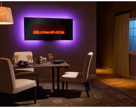Heat & Glo Wall-Mount Electric Fireplace Series - Create a distinct contemporary look. Two wall-mount models provide an instant upgrade to almost any space. These models do not require any venting, and can be easily installed. Hang it on the wall, plug it in and instantly enjoy modern style and ambient comfort.