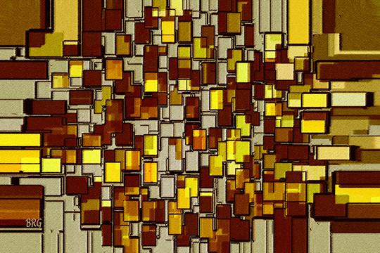 Urban Dwellings No 2 by Ben and Raisa Gertsberg - canvas art, art print, giclee modern