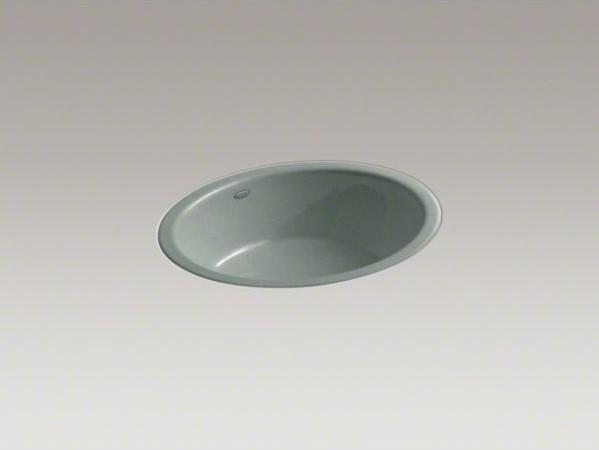 KOHLER Iron Flute(R) tile-in/under-mount bathroom sink contemporary-bathroom-sinks