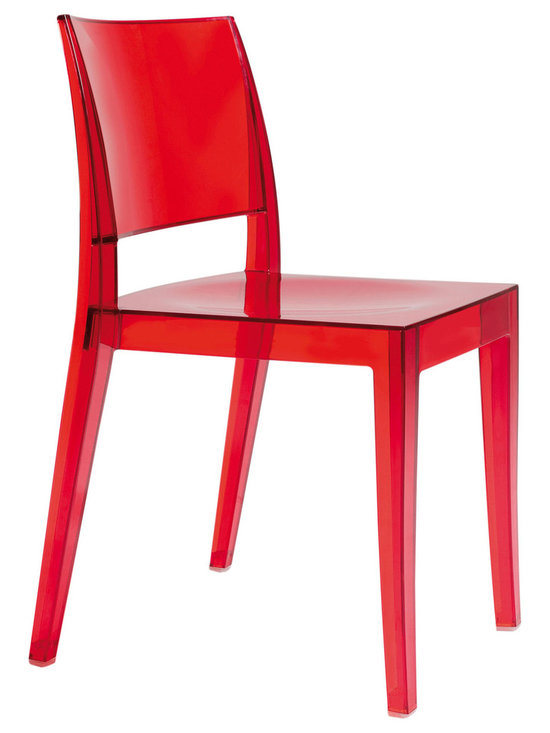 Gower Dining Chair by ModLoft - Gower dining chair features polycarbonate construction in clear, opaque, or translucent colored finishes. Measures 20 x 20 x 31. Sold in sets of 4 only. Price shown is for each. Made in Turkey. Imported. - See more at: http://www.cressina.com/gower-dining-chair-by-modloft.html#sthash.1s7v2W14.dpuf