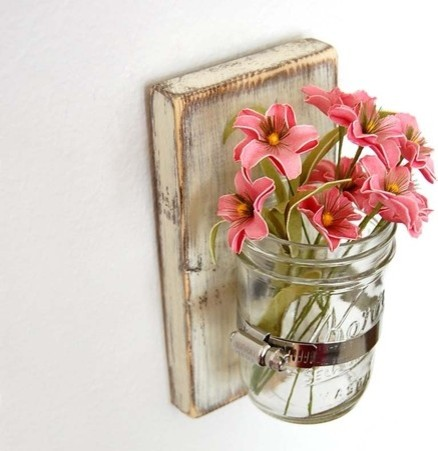 Shabby Chic Sconce Cottage Decor Vase by Old New Again eclectic-vases