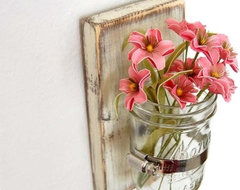 Shabby Chic Sconce Cottage Decor Vase by Old New Again modern vases