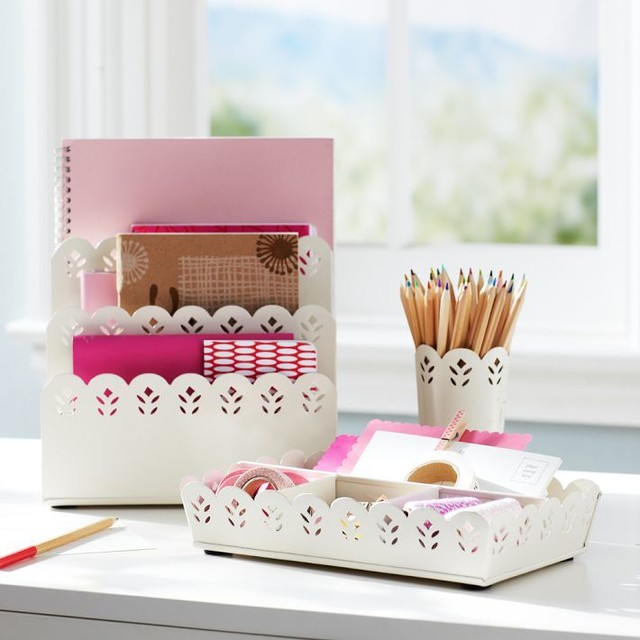 Pretty petals desk accessories contemporary desk - Desk organization accessories ...