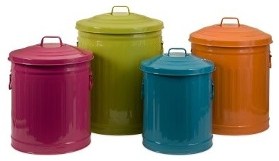 Edison Brights Storage Cans - Set of 4 modern-food-containers-and-storage