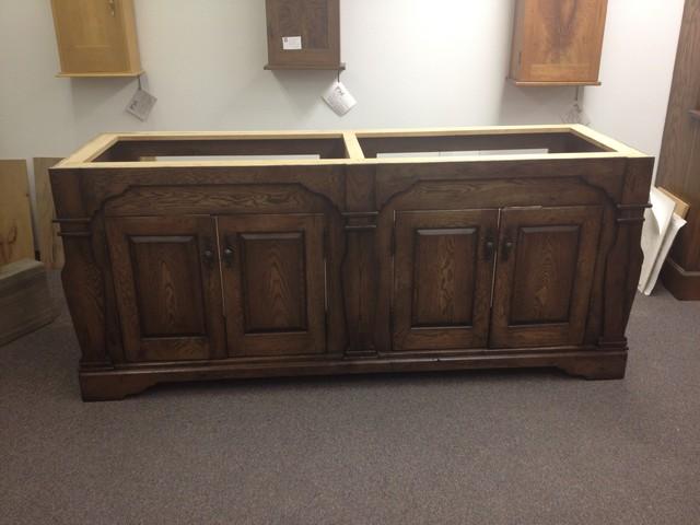 Rustic White Oak Vanity traditional-bathroom-vanities-and-sink-consoles