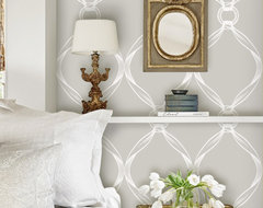 TIFFANY KNOTS LIGHT GREY REMOVABLE WALLPAPER modern-wallpaper