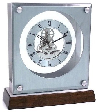 "Bey-Berk International ""Ani"" Clock, Skelton Movement, T.P. modern clocks"