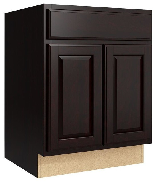 Cardell Cabinets Salvo 24 in. W x 31 in. H Vanity Cabinet Only in Coffee brown - Contemporary ...