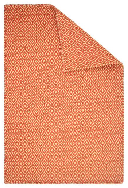 Shelbourne Orange/Yellow Eco Cotton Rug contemporary-rugs