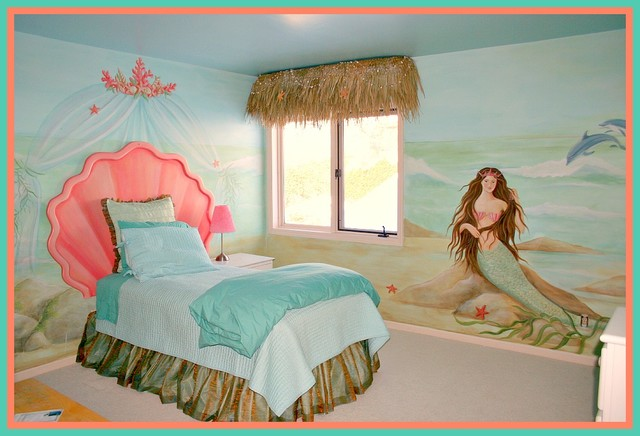Mermaid Bedroom For Little Girls Beach Style Nursery