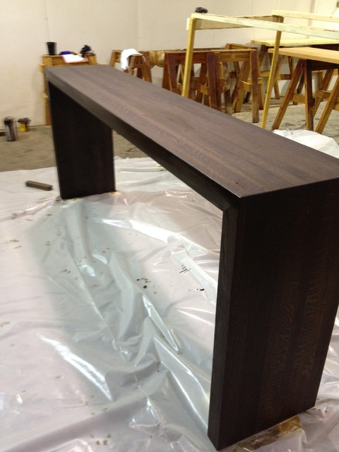 White Waterfall Tables ~ Waterfall wood tables by craft art elegant surfaces