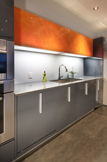 Pedini Kitchens Sleek, warm a colorful residence contemporary kitchen cabinets