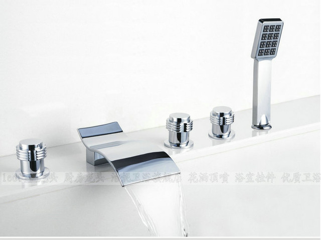 NEW**Tub shower faucet with handshower chrome finish BLW1 modern-showerheads-and-body-sprays