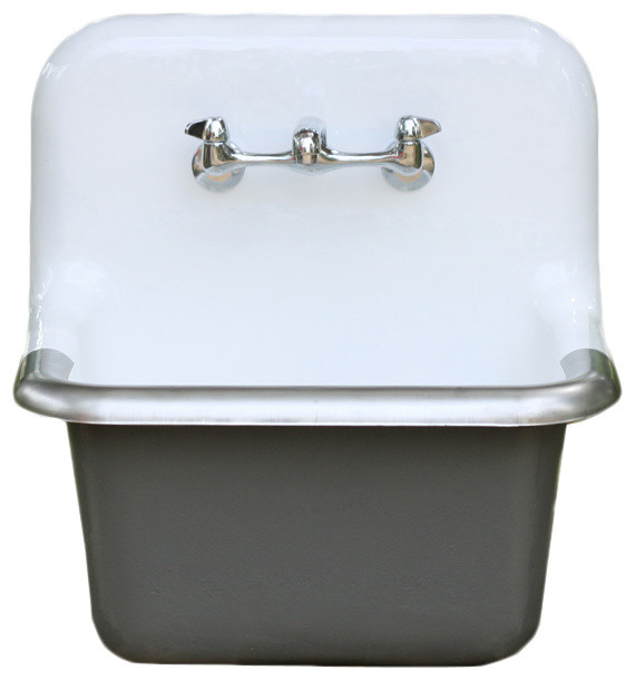 ... Porcelain Wall Mount Deep Basin Farm Utility Sink farmhouse-utility