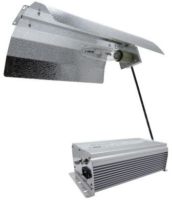 ViaVolt 600-Watt HPS White Grow Light System with Timer/Remote Ballast and Refle contemporary-ceiling-fans