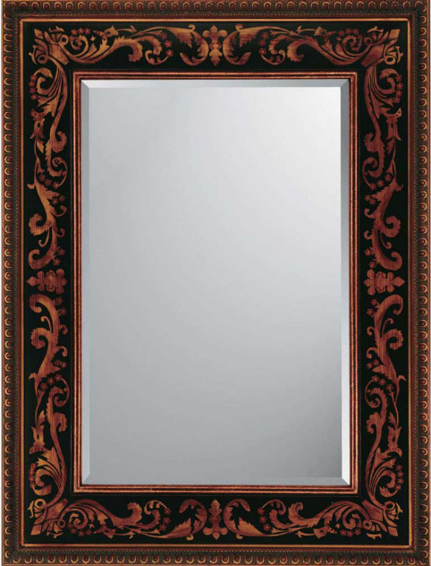 Black Gold Medieval Mirrors Decorative Contemporary Wall Mirrors