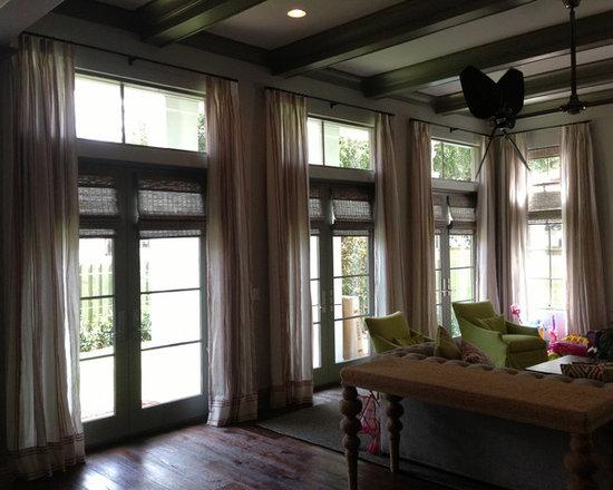 Drapery Ideas - A spectacular family room designed by Franco Pasquale Design Associates