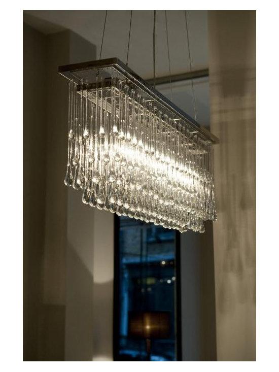 Light Drizzle Rectangular Chandelier -