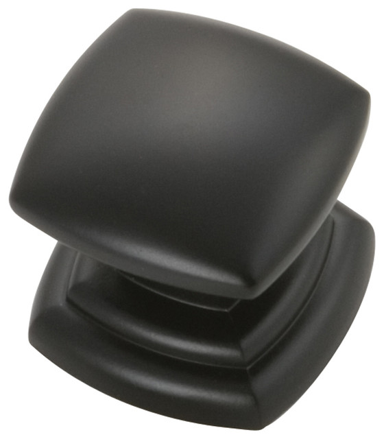Corinth Matte Black Cabinet Knob transitional-cabinet-and-drawer-knobs