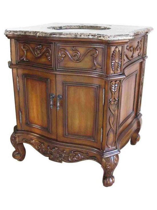 Classic Design Quor 30in Single Bathroom Vanity Cabinet - HomeThangs.com - Classic Design Quor 30in Single Bathroom Vanity Cabinet B-001-30