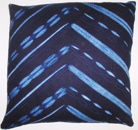 IND002 African indigo cloth pillow cover eclectic pillows