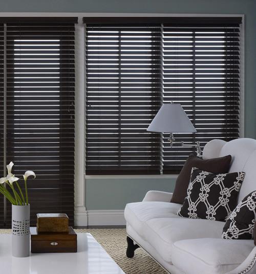 Blindsgalore Premium Wood Blinds 2 3 8 Inch Slats