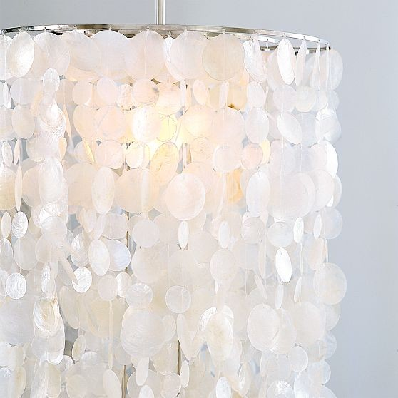 Long Hanging Capiz Pendant Lamp | west elm eclectic chandeliers