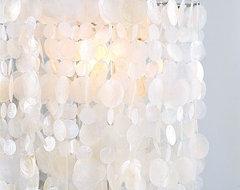 Long Hanging Capiz Pendant Lamp | west elm eclectic-chandeliers