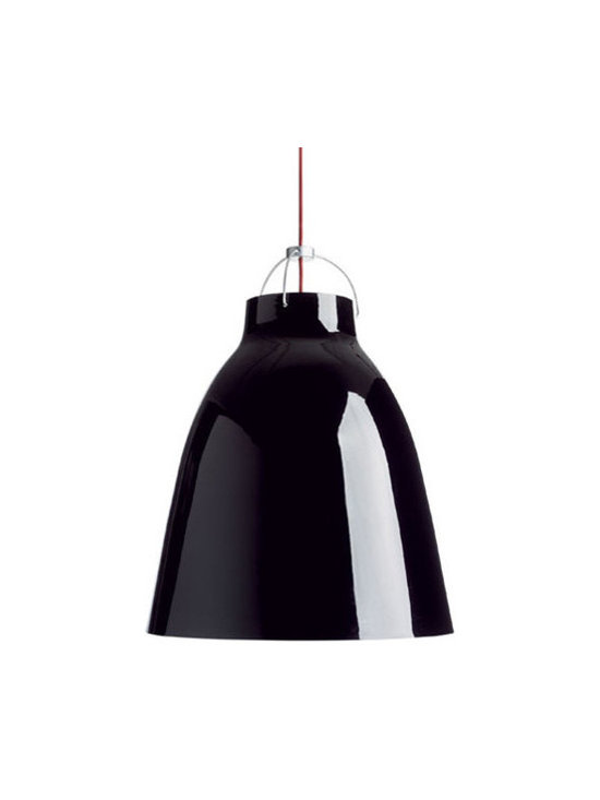 Caravaggio P3 Pendant - Large - Black High Gloss