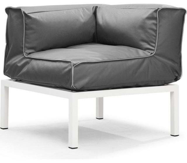 ZUO Modern - Patio Indoor Outdoor Copacabana Corner in Light Gray - 701811 modern-outdoor-chairs