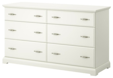 birkeland 6 drawer dresser white scandinave commode et chiffonnier par ikea. Black Bedroom Furniture Sets. Home Design Ideas