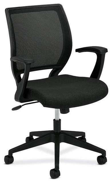 basyx by HON VL521 Mid-Back Work Chair, Mesh Back, Fabric Seat contemporary-office-chairs