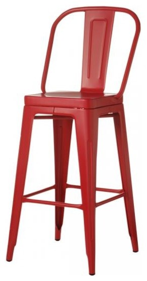 Garden Bar Stool Red Contemporary Bar Stools And