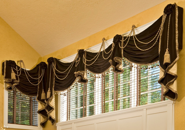 Custom window treatment original design traditional for Custom window treatments