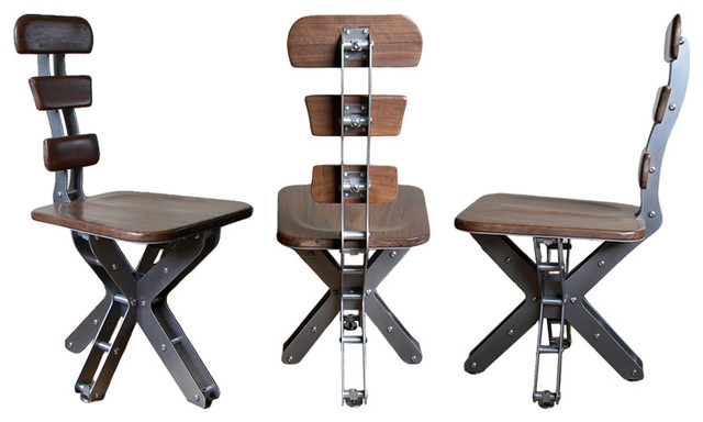 Walnut mini truss chair by brandner design industrial for Industrial design chair