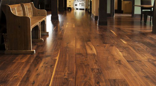 Old Growth Antique Walnut Wide Plank Flooring From Jewett