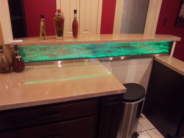 backsplash lighting blocks in a kitchen backsplash to add light