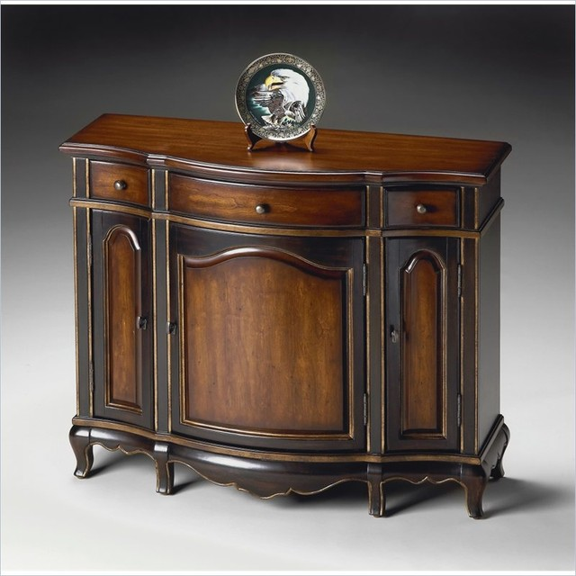 Butler specialty console cabinet in cafe noir finish traditional console tables by cymax - Sofa table with cabinets ...