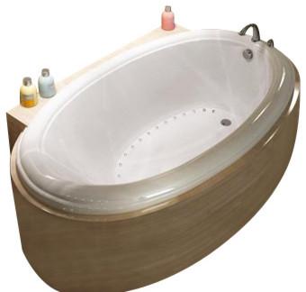 Atlantis Tubs 3660PAL Petite 36x60x23 Inch Oval Air Jetted Bathtub traditional-bathtubs