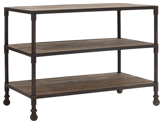 zuo mission bay 3 level distressed natural shelf rustic. Black Bedroom Furniture Sets. Home Design Ideas