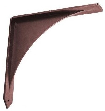 Federal Brace Arrowwood Bronze Countertop Support / Corbel, 12x12 transitional-brackets