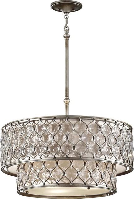 Murray Feiss MRF-F2707-6BUS Lucia Modern / Contemporary Pendant Light contemporary-pendant-lighting